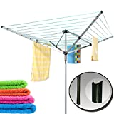 Guaranteed4Less Garden Rotary Clothes Dryer 50M Washing Line Airer 4 Arm Outdoor Indoor Laundry