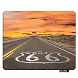 NICOKEE Road Rectangle Gaming Mousepad Famous US Route 66 Mouse Pad Mouse Mat for Computer Desk Laptop Office 9.5 X 7.9 Inch Non-Slip Rubber
