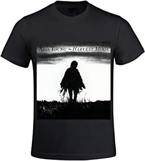 Neil Young Harvest Moon Men T Shirts Crew Neck Funny