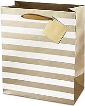 Cakewalk 4484 Ritzy Stripe Double Bottle Paper Bag Assortment, White