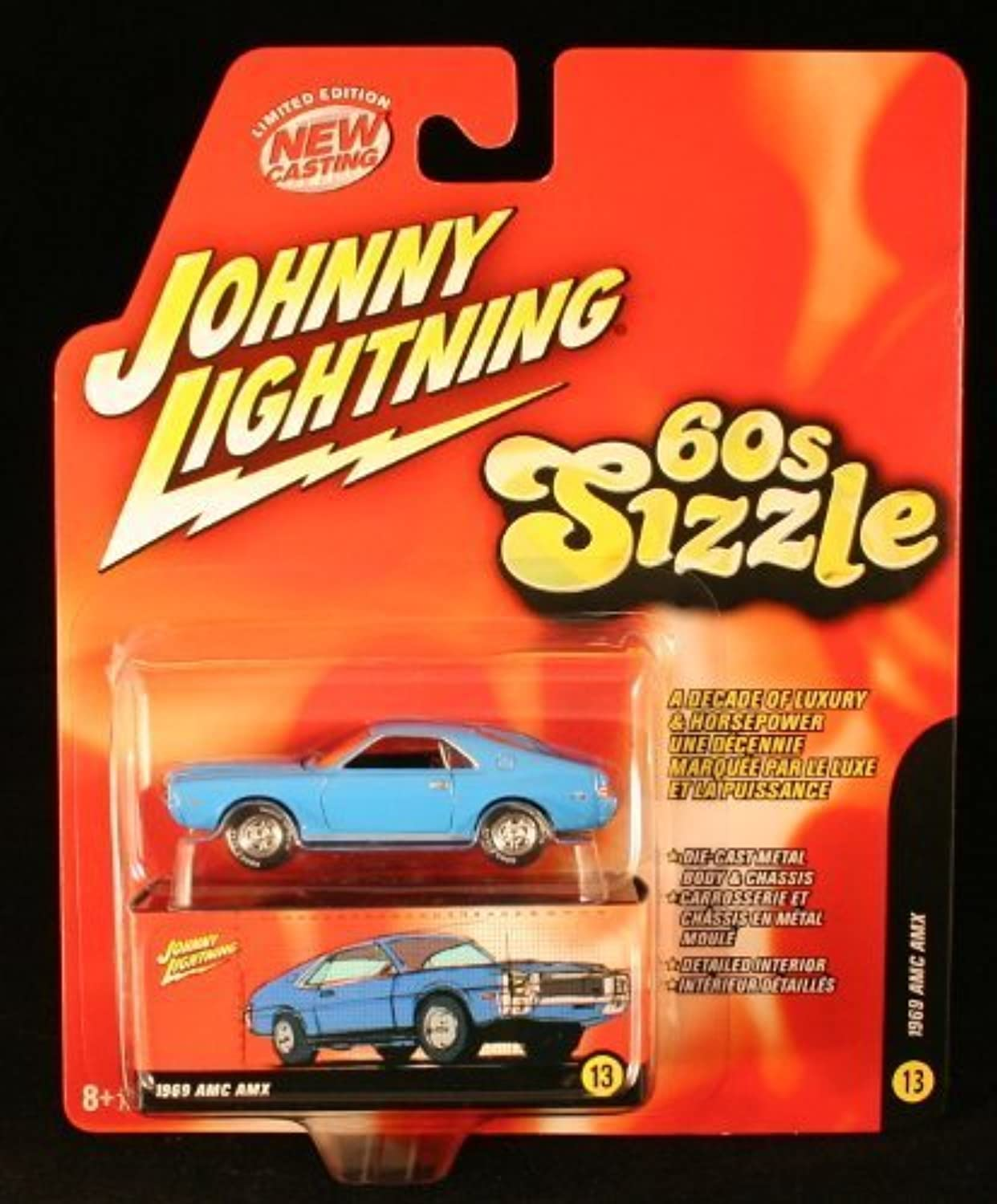 toma 1969 AMC AMC AMC AMX  azul  60s Sizzle Johnny Lightning 2006 Die-Cast Vehicle  13 of 16 by Rc2  promociones de equipo