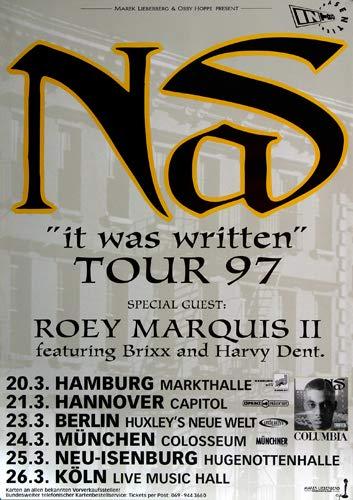 NAS - It was Written, Tour 1997 » Konzertplakat/Premium Poster | Live Konzert Veranstaltung | DIN A1 «