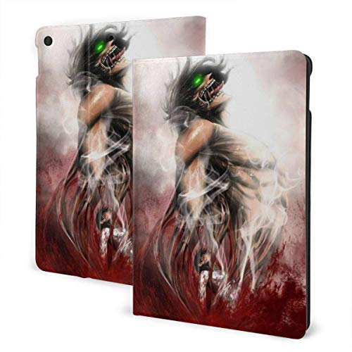 Case For iPad iPad Case Ipad cover Japanese Anime Japanese Anime Titan Eren Jaeger Smart Stand Back Cover Anti-Scratch Auto Wake/Sleep Protective Case