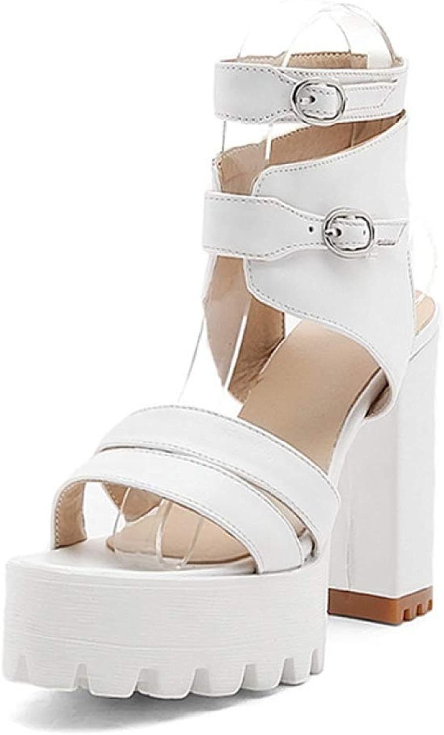 T-JULY Summer Gladiator Women Sandals Sexy High Heels Cut-Outs Female Sandals Open Toe Platform Ladies shoes