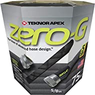 Teknor  4001-75 Zero G Advanced Kink Free Hose, Black