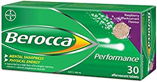 Berocca Performance Raspberry and Blackcurrant Effervescent 30 Tablets
