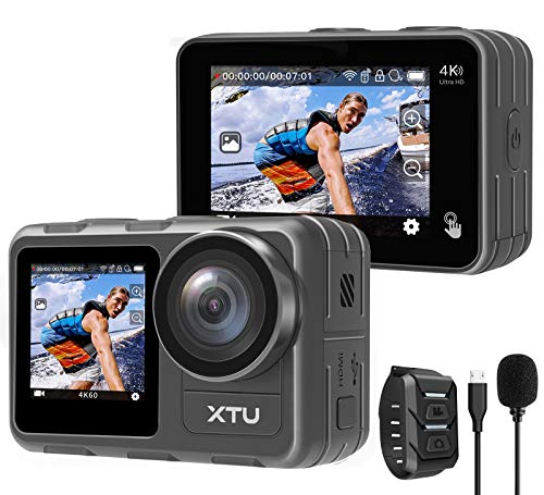 Action Camera, XTU 4K60FPS 20MP WiFi Action Cam