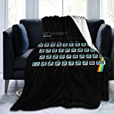 NUJSHF Sinclair Zx Spectrum consola de juegos de forro polar manta de franela ligera ultra suave cálida manta de cama apta para sofá