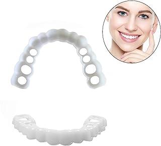 歯を白くする3組の一時的な化粧品の歯の義歯の歯の化粧品のブレース