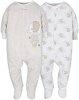 Gerber Baby-Girls 2-Pack Sleep 'N Play Long Sleeve Infant-and-Toddler-Bodysuit-Footies