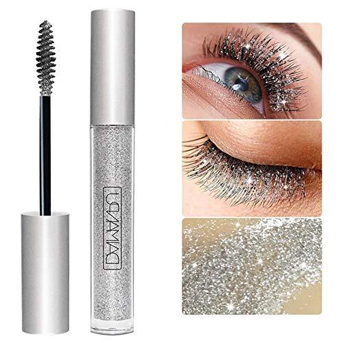 Diamond Glitter Shimmer Lash Mascaras Wischfeste, schnell trocknende Wassertropfen Make-up Langlebige, wasserdichte Curling Thicker Shiny Eyelash Mascara