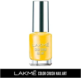 Lakme Color Crush Nailart, M19 Sunny Yellow, 6 ml