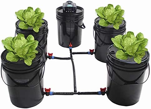DasMarine Deep Water Culture Hydroponic Bucket Kit 5 28 Gallon with Air Pump Airstone DWC Hydroponic product image