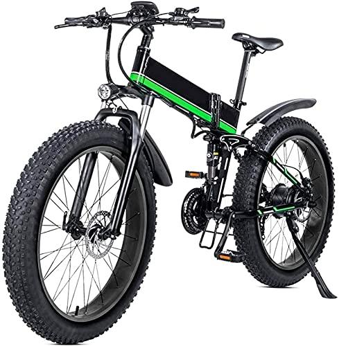 Bicicleta electrica 26 Bicicleta de montaña plegable eléctrica con batería de litio de litio de 48V 12AH extraíble 1000W Motor Bicicleta eléctrica ebike con pantalla LCD y batería de litio extraíble