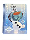 Frozen-themed spiral-bound notebook 80 sheets Wide-ruled Measures approximately 8 x 10.5 inches Personalize your back-to-school experience!