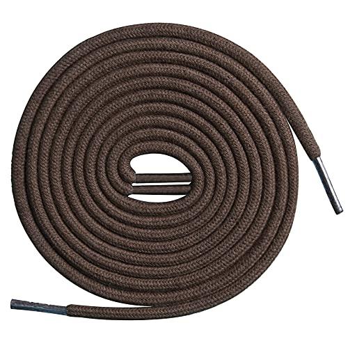 TIESTRA Schnürsenkel Rund für Arbeitsschuhe und Trekkingschuhe, Sehr Reißfest Rundsenkel, 4,5 mm Durchmesser, 75 cm - 150 cm Länge Ersatz Schnürsenkel, Brown-120cm