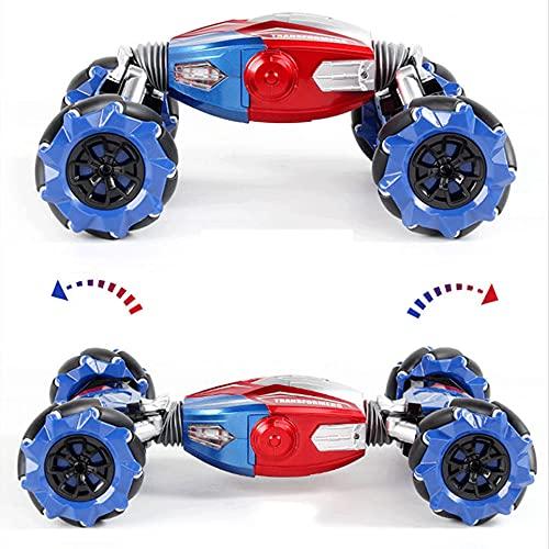 KGUANG Gravity Induction Twisting Stunt RC Car4WD Twisting Sound and Light Deformation 2.4G Control Remoto Buggy Carga USB Vehículo eléctrico de Juguete para niños Niño Cumpleaños