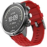 ANBEST 24mm Silicona Suave Pulseras de Repuesto Correa para Suunto 9/Suunto 7, Compatible con Suunto 9 Baro/Suunto Spartan Sport Wrist HR/Suunto D5 Smart Watch