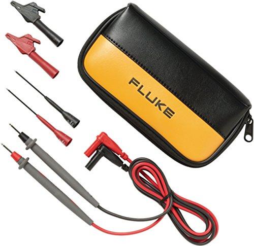 Fluke TL80A-1 Sicherheits-Messleitungs-Set [Lamellenstecker 4mm - Prüfspitze] 1.5m Schwarz, Rot
