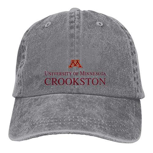 University of Minnesota-Crookston Logo Sombrero de Vaquero clásico Gorra de béisbol Ajustable, Sombrero para el Sol, Sombrero Deportivo Informal Unisex Casquette Gris