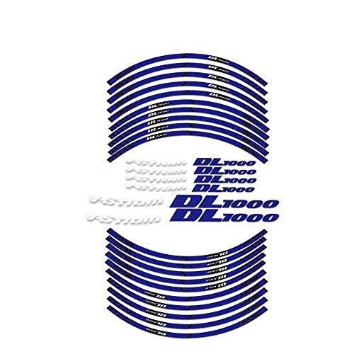 para V-STROM1000 DL1000 V-Strom 1000 DL 1000 Pegatinas de la Rueda de la Motocicleta Pegatinas de la Moto Reflectante Empresa de la Rotura Impermeable Completo Cinta (Color : 1)