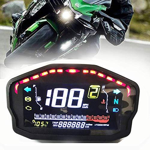 SAMDO Universal Motorcycle Speedometer Odometer Tachometer 14000 RPM 199 Kph Mph Motorcycles Refit Water Temperature Gauge VA Realcolor