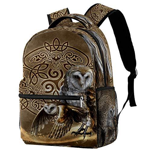 Mochila de búho, mochila escolar, bolsa de libro, mochila casual para viajes, estampado 6 (Multicolor) - bbackpacks004