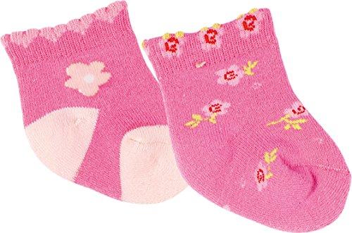 gigando | Funny Baby Socks with rubber Sole | extra weiche, bunte Babysocken mit Innenfrottee | Socken mitrutschfester Sohle und handgekettelter Fußspitze | 2 Paar | petrol, orange | 62-68 |