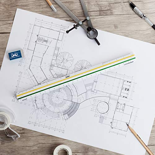 """Mr. Pen Architectural Scale Ruler, 12"""" Plastic Architect Scale Photo #8"""