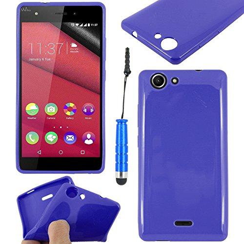ebestStar - Cover Compatibile con Wiko Pulp 4G Custodia Silicone Gel TPU Protezione Morbida e Sottile + Mini Penna, Blu Scuro [Apparecchio: 143.9 x 72 x 8.8mm, 5.0'']