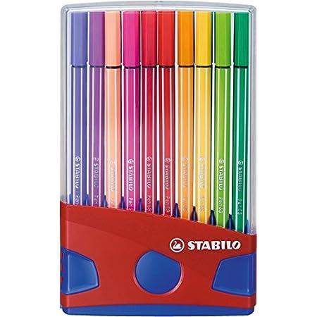Premium Filzstift Stabilo Pen 68 Colorparade 20er Tischset In Rot Blau Mit 20 Verschiedenen Farben Bürobedarf Schreibwaren
