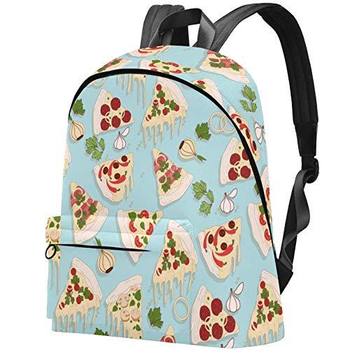 Pizza Pattern Travel School Bags Boys Girls Bookbag Daily Casual Bags