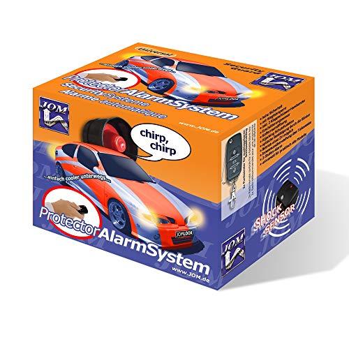JOM Car Parts & Car Hifi GmbH 7106 Alarmanlage, universal mit Funkfernbedienung und ZV-Ansteuerung, Erschütterungssensor, Klappschlüssel-Handsender