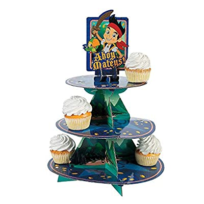 Fun Express - Jake Neverland Pirates Treat Stand for Birthday - Party Supplies - Licensed Tableware - Misc Licensed Tableware - Birthday - 1 Piece