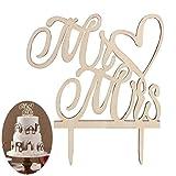 OUNONA Decorazione per Torte e Cupcake Cake Topper Sposa Decorazione Torta per Torta Nuziale Matrimonio Mr Mrs