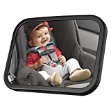 MONOJOY Baby Car Mirror for Back Seat Safe and Wide Baby Car Seat Rear View Mirror Facing Infants, Babies, Kids and Child Full View