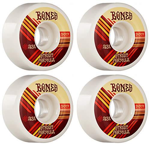 Bones Skateboard Wheels 54mm Retros V4 Wide STF 103A White