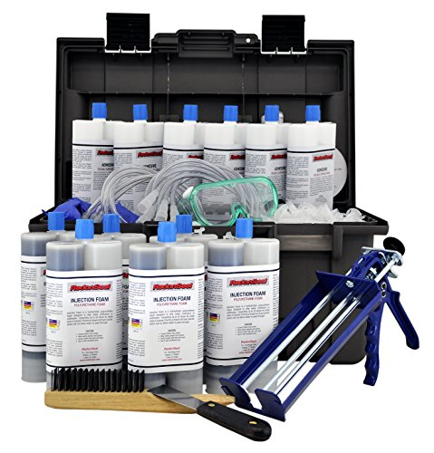 RadonSeal PRO Foundation Crack Injection Toolkit (60 ft) – The Professional Concrete Crack Repair...