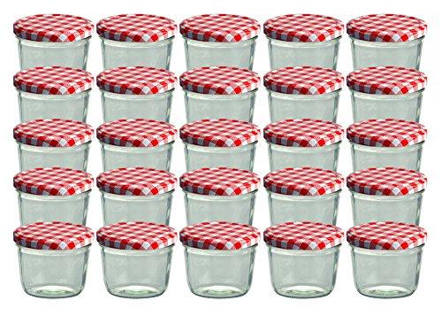 25er Set Sturzglas 230 ml Marmeladenglas Einmachglas
