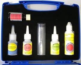 Madocolor reparatieset voor het huishouden in koffer, inhoud: 20 ml lijm, 20 ml oplosser, 20 ml reiniger, 30 g vulstof, 15...
