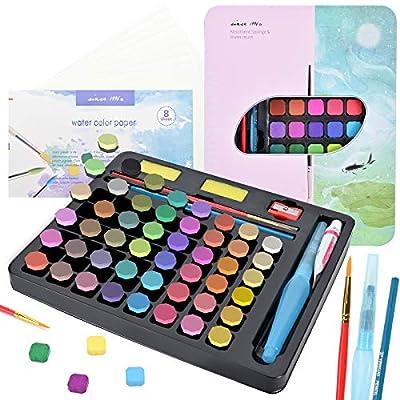 Canitu Watercolor Paint Set, 48 Premium Colors ...