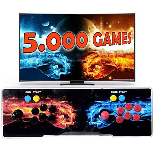 Unicview Pandora Box 3D, Retro Consola Maquina recreativa Arcade Video, Joystick Arcade, Versiones Originales Juegos Retro, Incluye Juegos 2D y 3D. Función de Guardar Partida. (5000 Juegos)