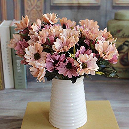 Ramo flores artificiales flores seda 6 ramas 10 pimpollos
