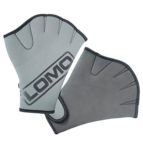 Lomo finger nuoto guanti palmati, Grey