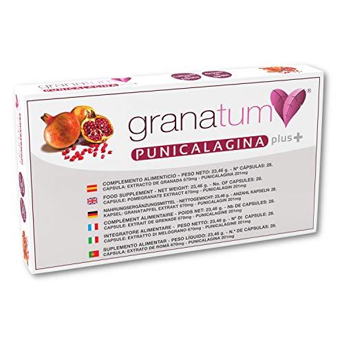 Granatum Plus | Extracto de Granada Punicalagina PLUS | Complemento Alimenticio Natural 100% Origen España | Polifenoles Naturales | Complemento Nutricional | (1 Caja de 28 Cápsulas)