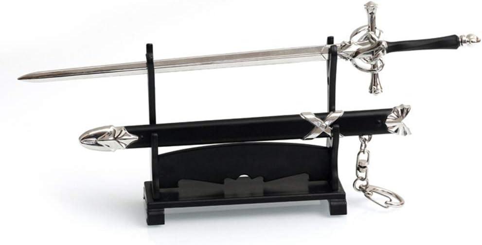 Estilo Chino cl/ásico Espada de Rosa Cuchillo Daga Cuchillo de Metal Espada Sable Modelo Figura Llavero de Regalo Rulien Eyes ?Sin Punta de Cuchillo