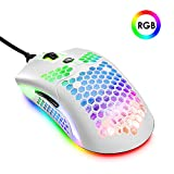 Lightweight Gaming Mouse Wired, 12000DPI Mice Backlit Mice with 7 Buttons Programmable Driver,Ultralight