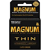 Trojan 3's Magnum Thin Ultra Smooth Lubricant Condoms (Pack of 6)