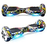 TOEU Hoverboard with LED light, 6.5 inch Self Balancing Electric Scooter, Segway for Kids and Adult Gifts,Graffiti