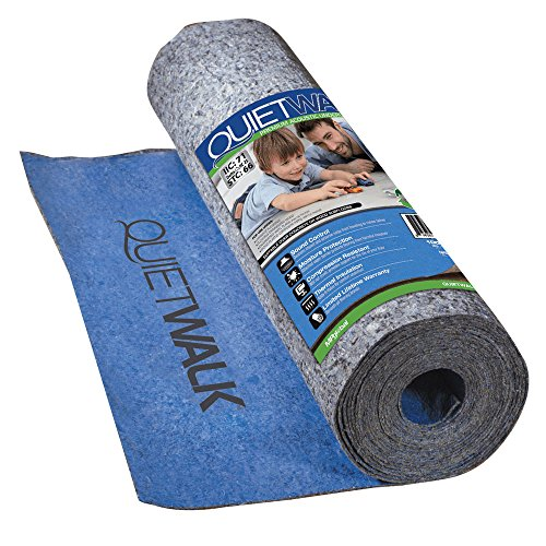 MP Global Products QW100B1LT Laminate Flooring Underlayment with Attached Vapor Barrier Offering Superior Sound Reduction, Compression Resistant and Moisture Protection, 3' x 33'4